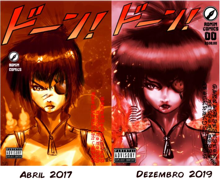 comparison between illustrations