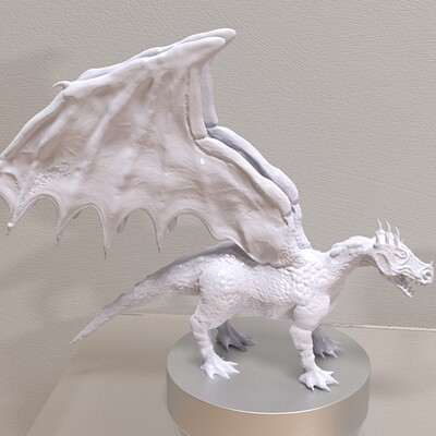 White Dragon (Porcelain Sculpture)