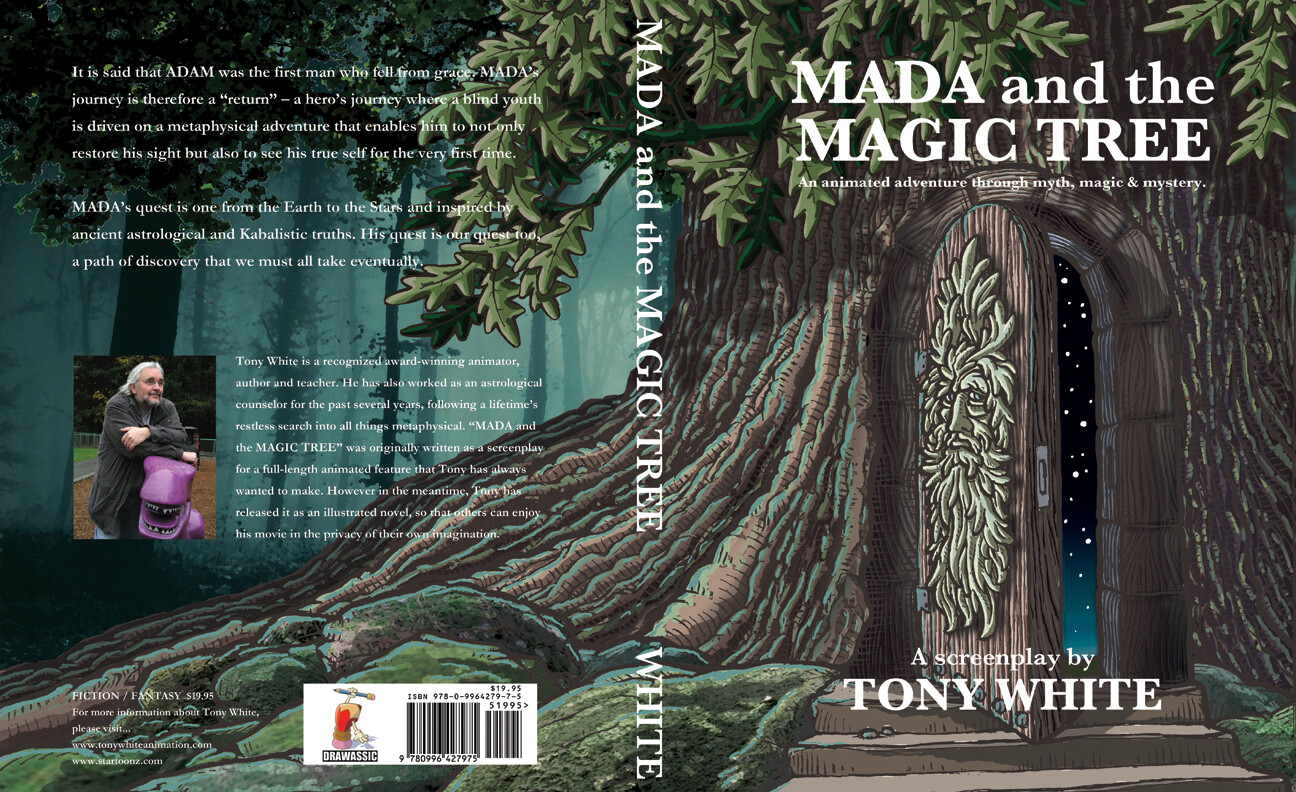 "Cover artwork for my screenplay book ""MADA AND THE MAGIC TREE"""
