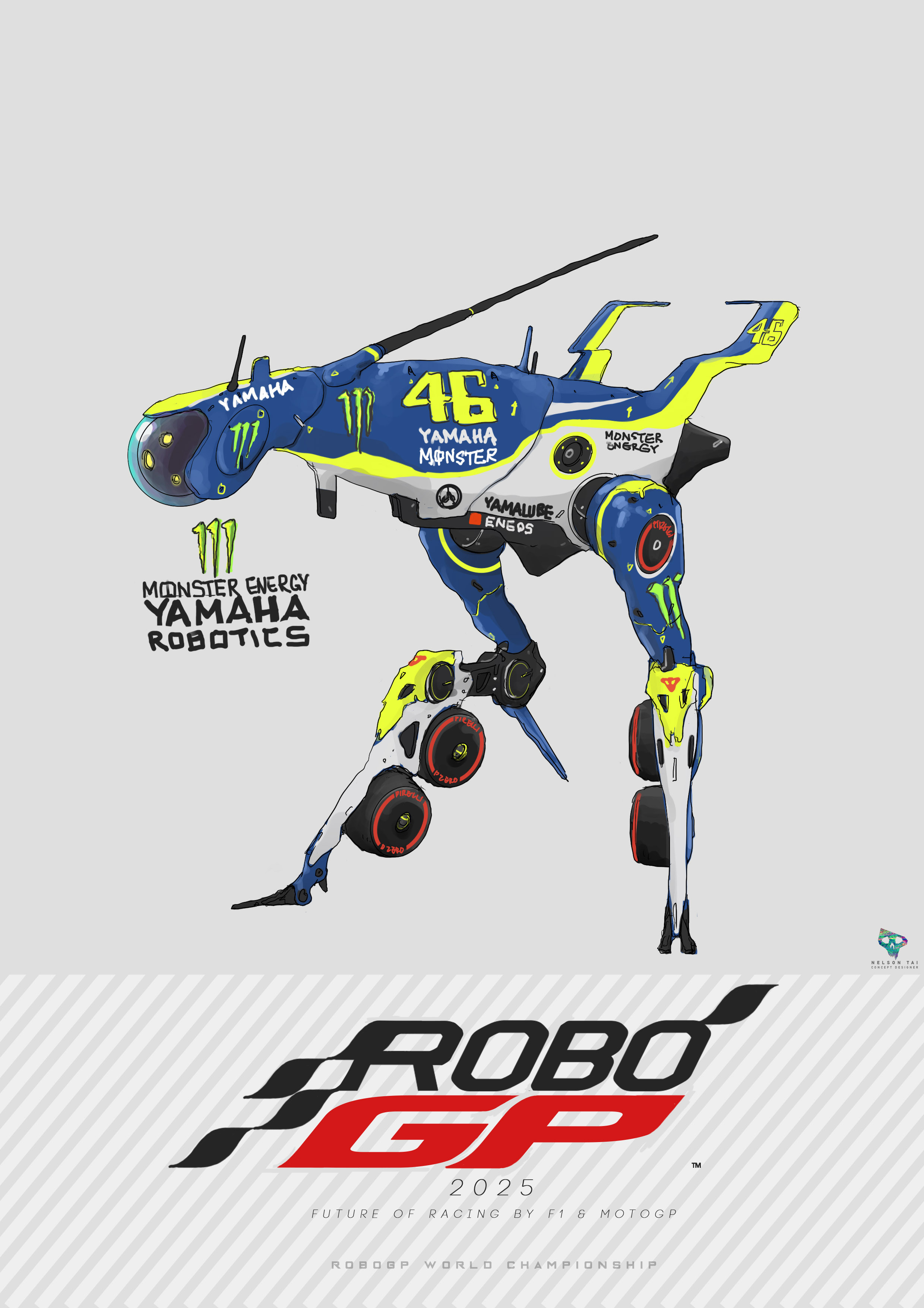 Monster Energy Yamaha Robotics | Runs on the data of the GOAT - Valentino Rossi!
