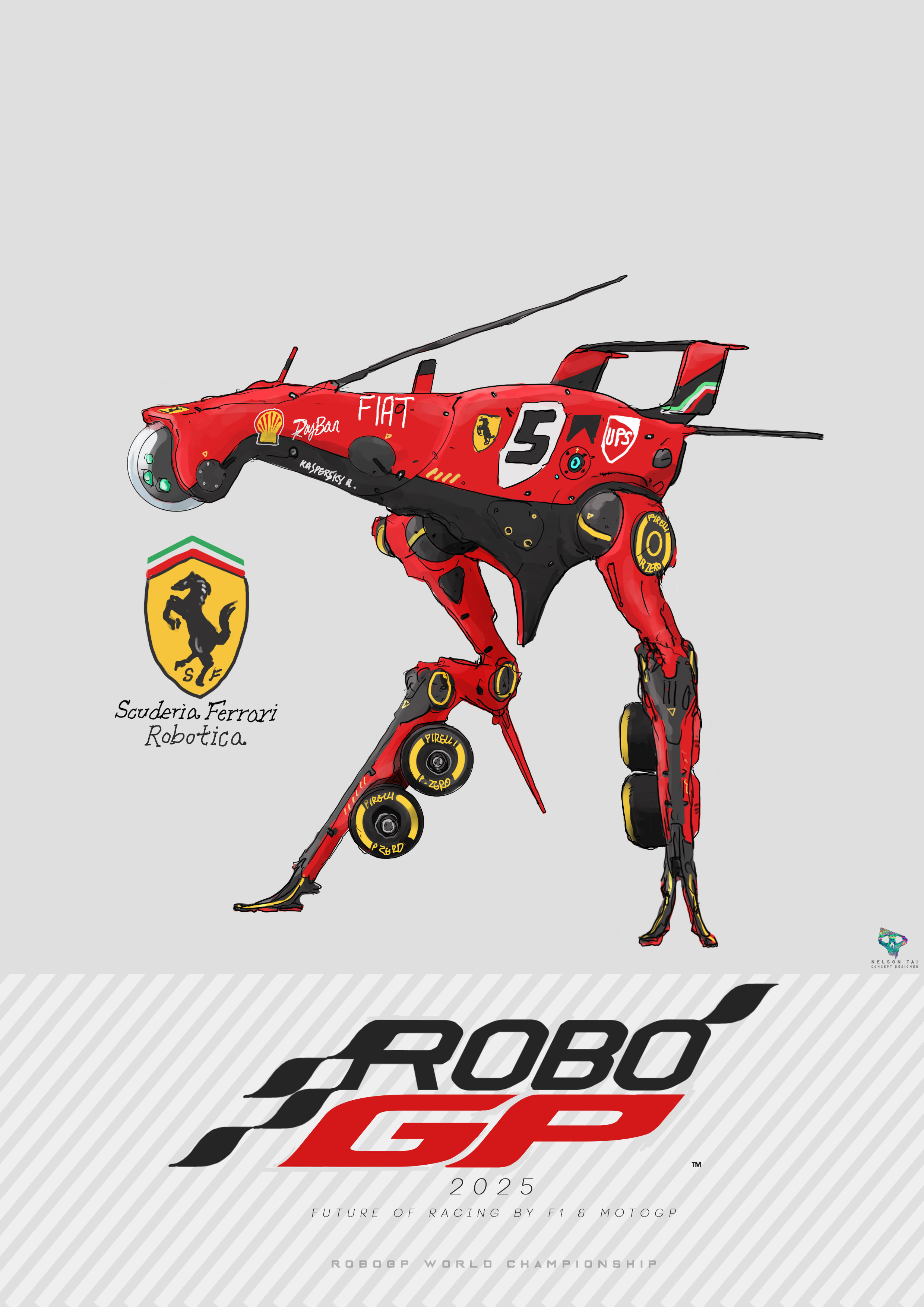 Scuderia Ferrari Robotica | Runs on the data of 4-time World Champion Sebastian Vettel!