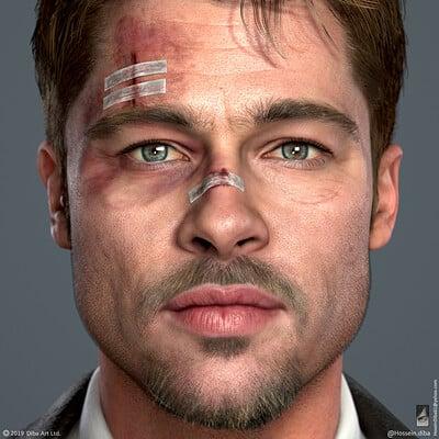 Brad Pitt - Se7en - Fan art (Real time)