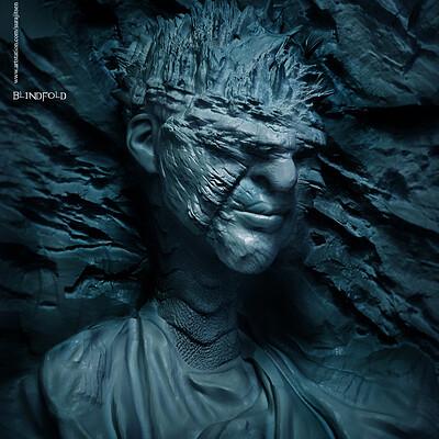 Surajit sen blindfold concept digital sculpture surajitsen dec2019 ss