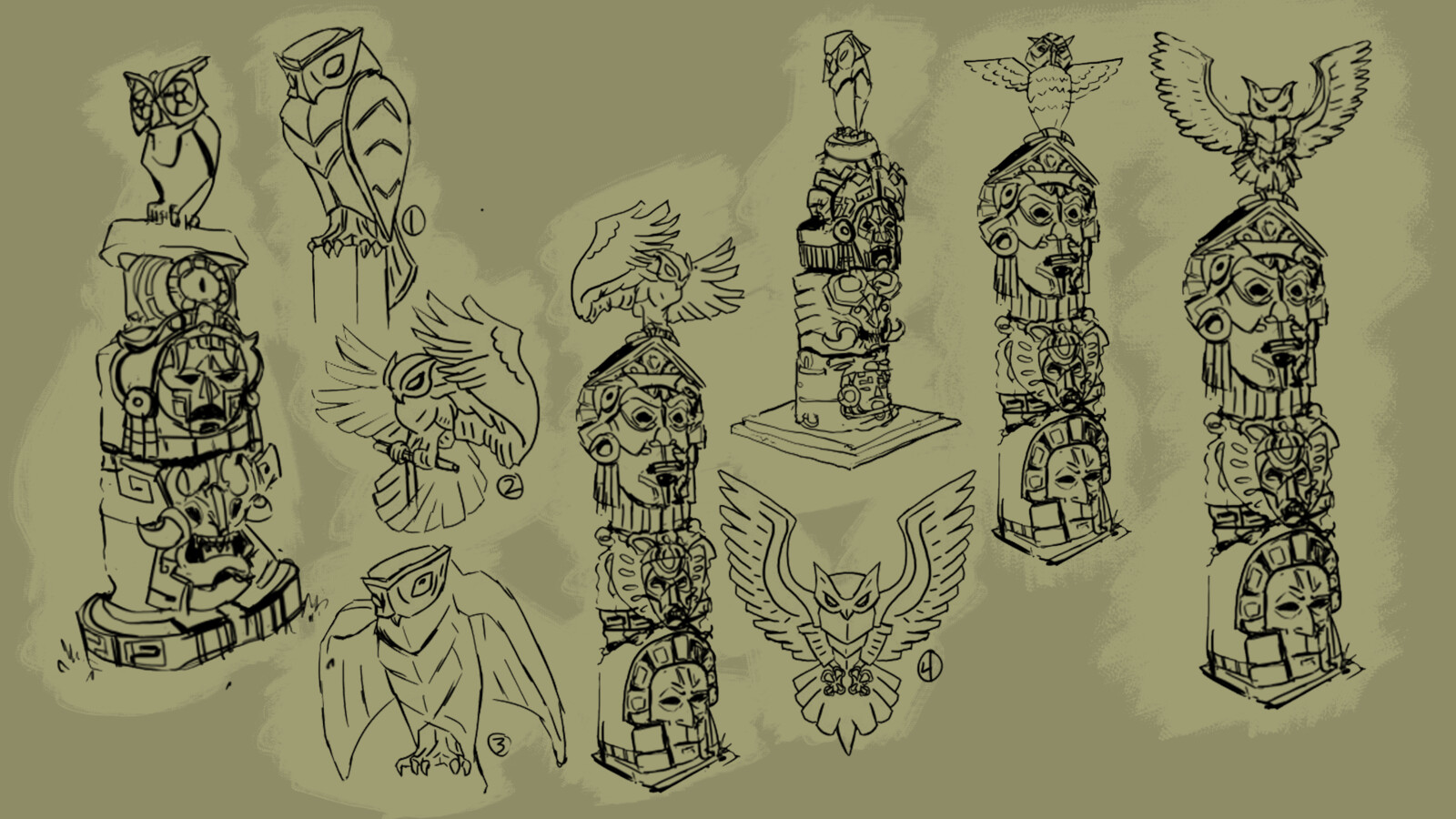 Totem Sketches - (05/12/19) Emily