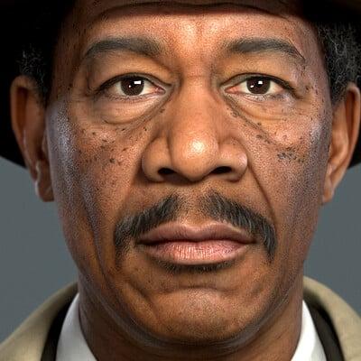Morgan Freeman - Se7en - Fan art (Real time)