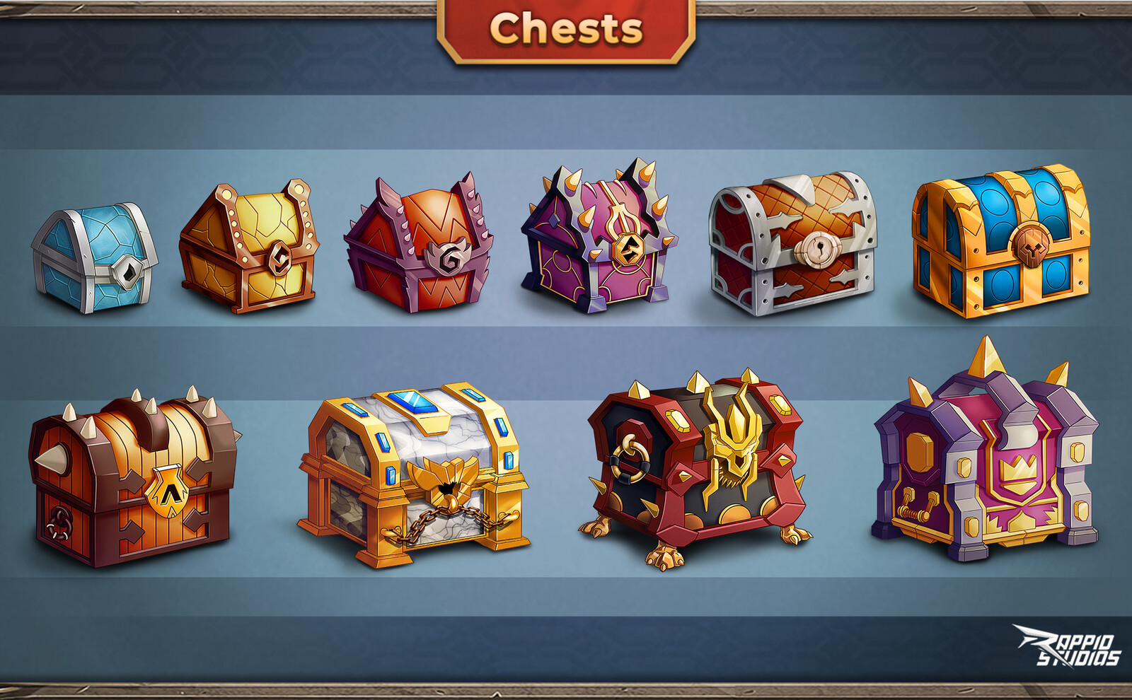 All the chest raritites