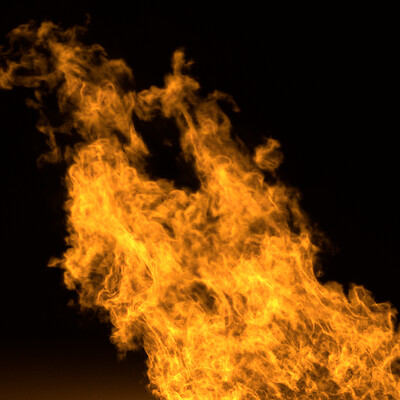 Realistic Fire on Houdini testing