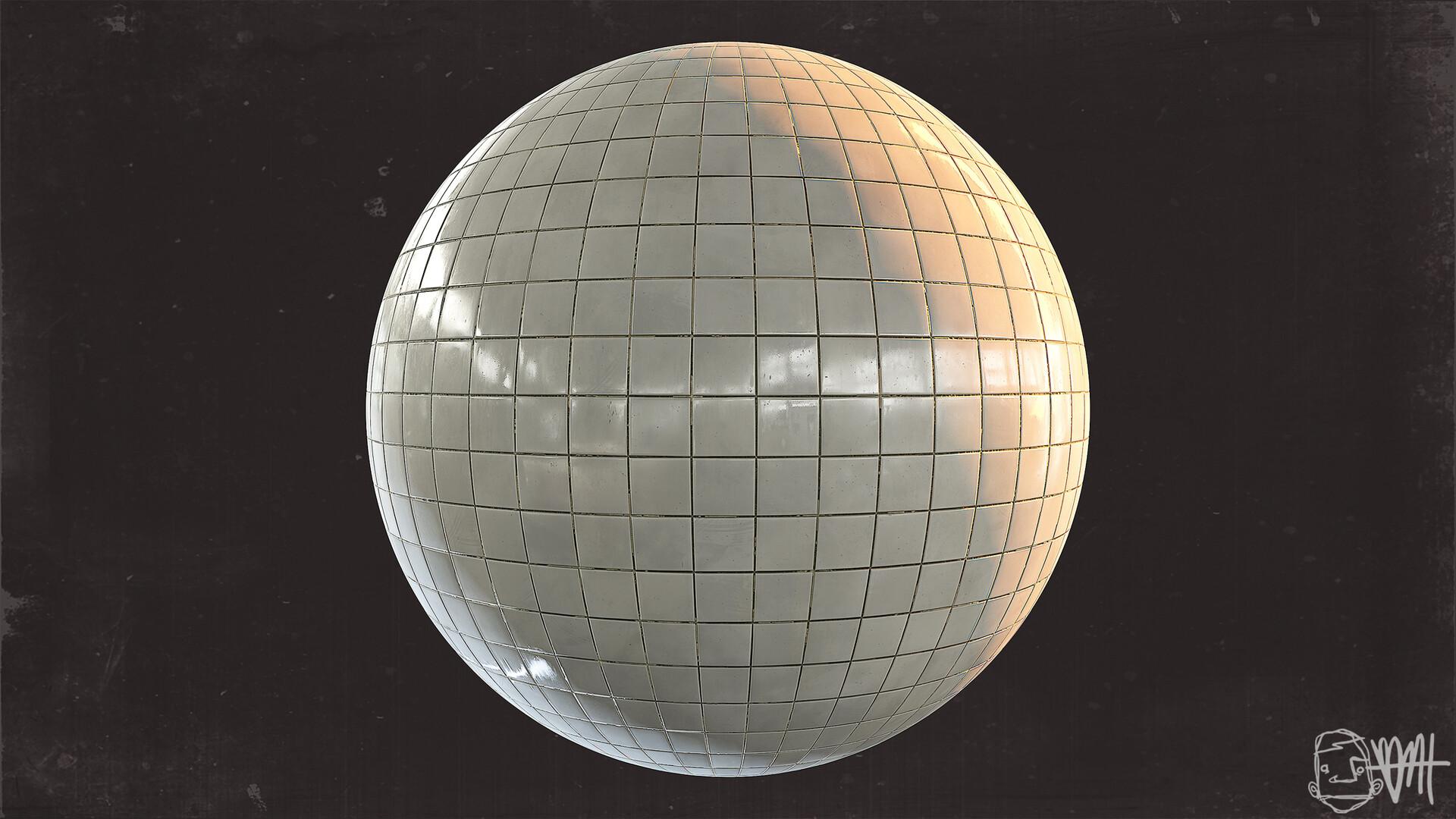 Brett marshall tucker subway tile sphere render