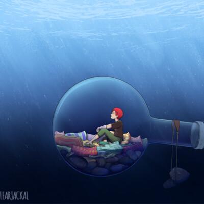 Nuclear jackal underwater by nuclearjackal 1