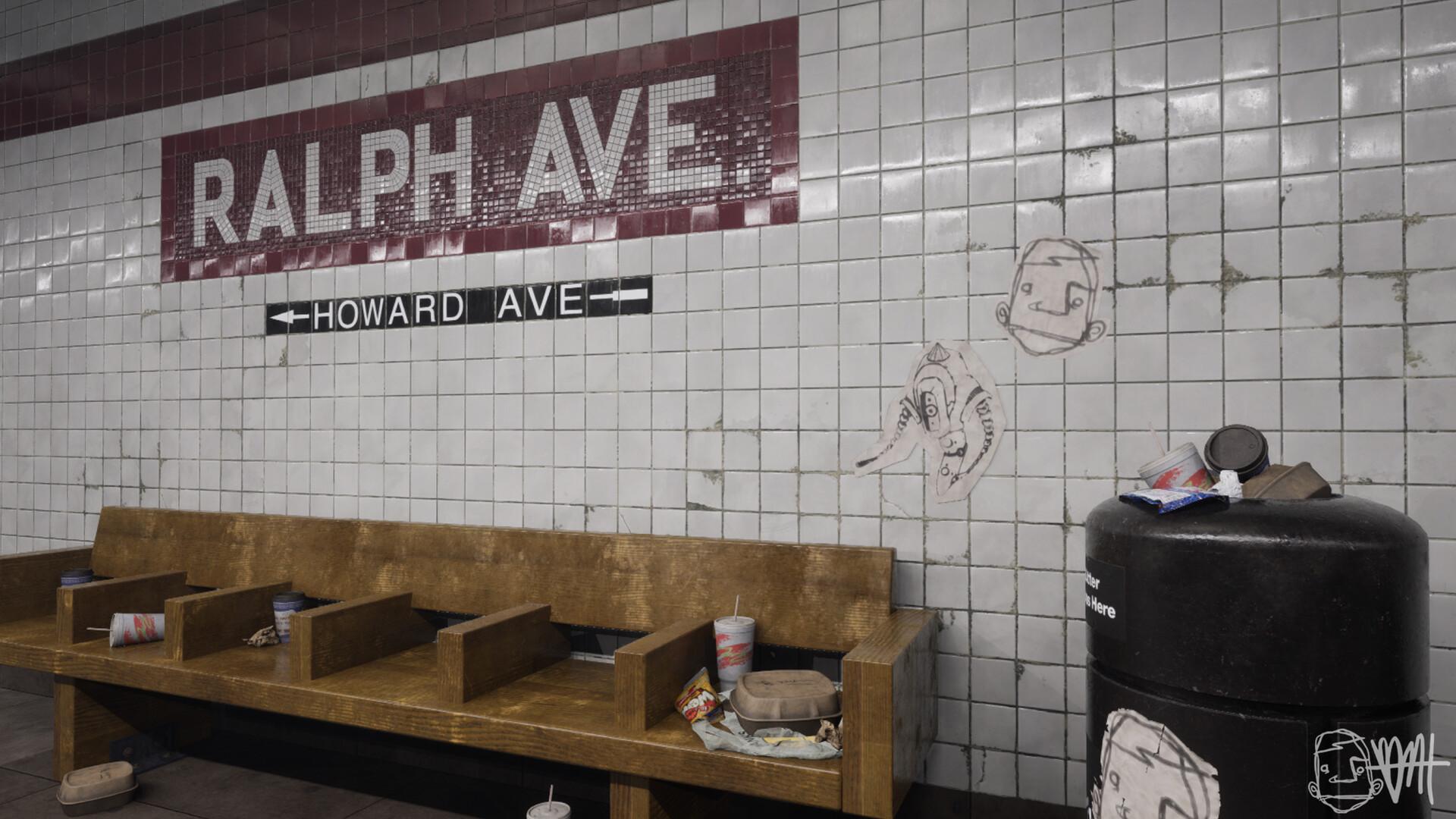 Brett marshall tucker subway tile ue4 screenshot