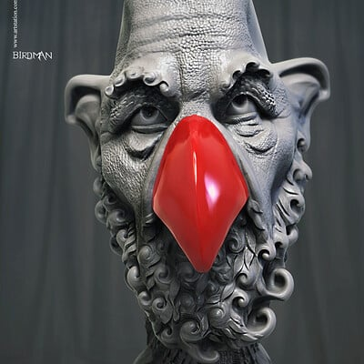 Surajit sen birdman 01 digital sculpture surajitsen dec2019a