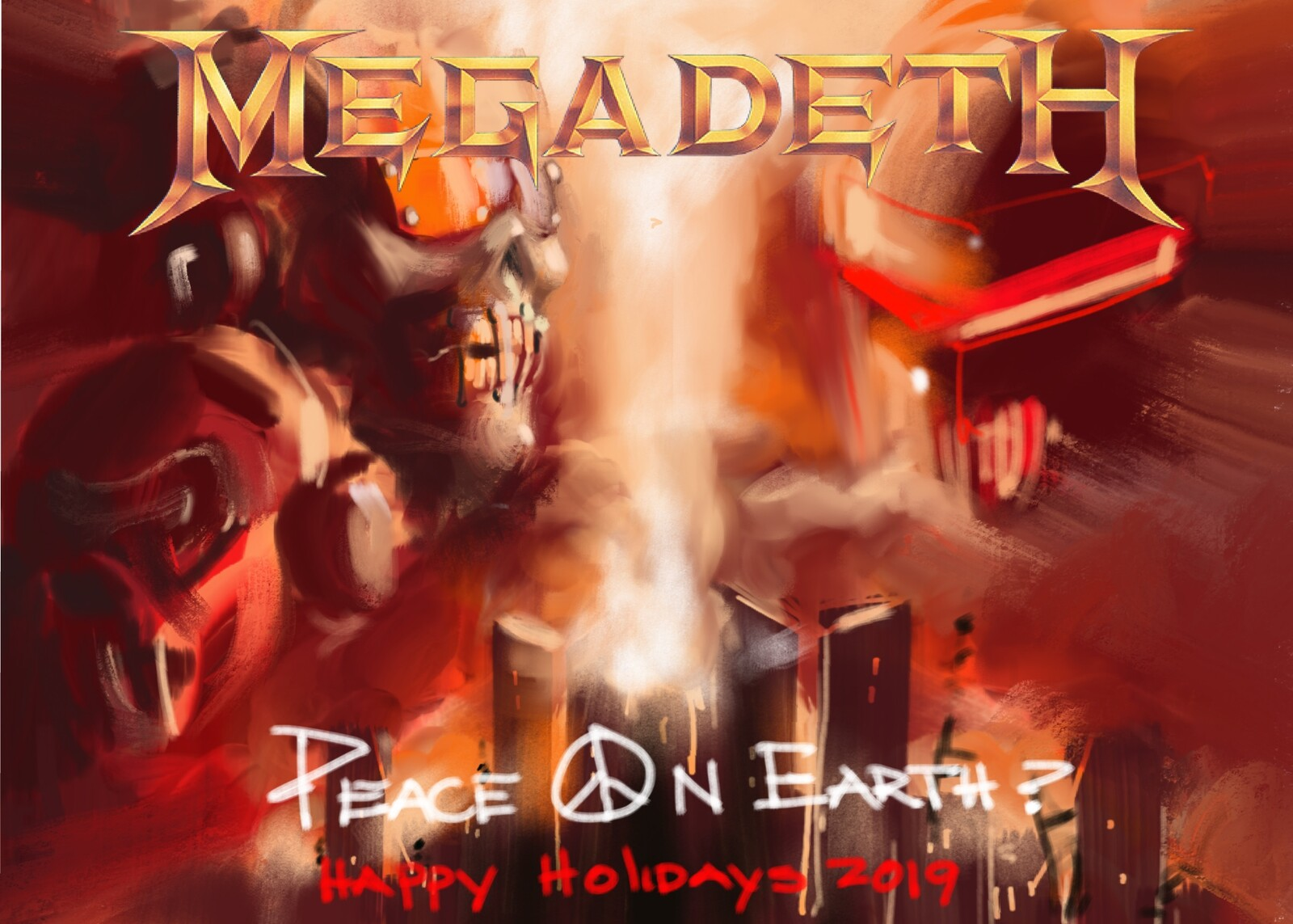 Megadeth-Peace on Earth?  Greeting card concept