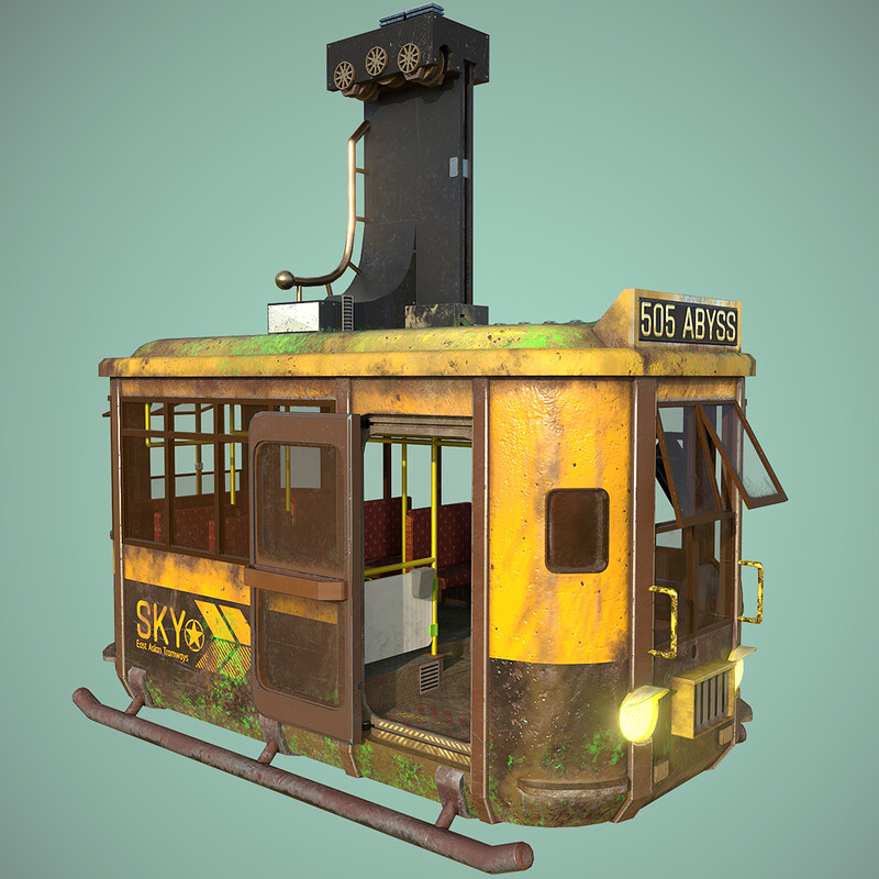 Sky Tram, 3D model