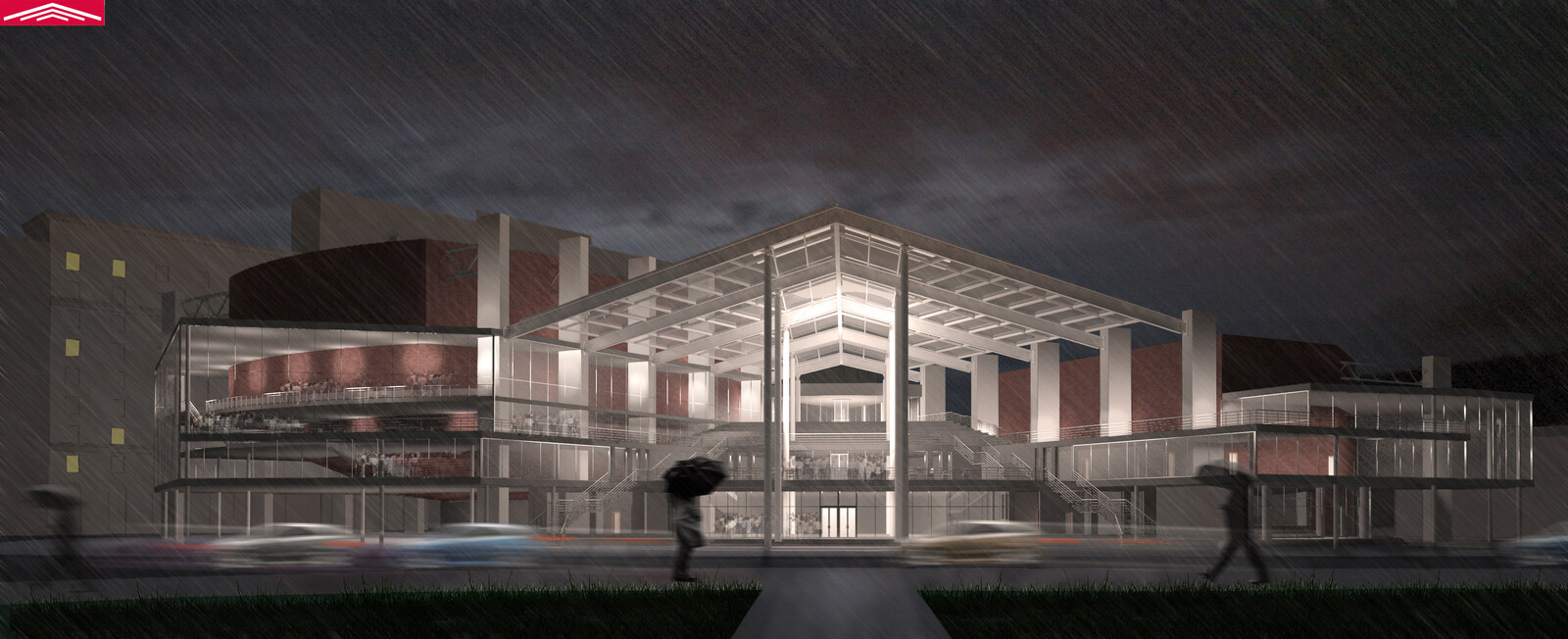 Concert Hall project. Facade. (MArchI, 2013)