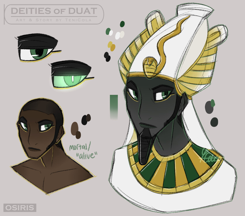 OSIRIS – The God of the Dead, the afterlife, and resurrection – the King of Duat.