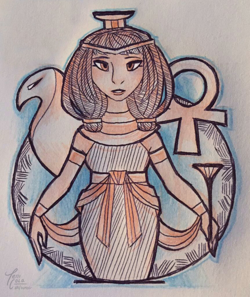 NEPHTHYS -- The Goddess of Mourning, nighttime, rivers, and service.