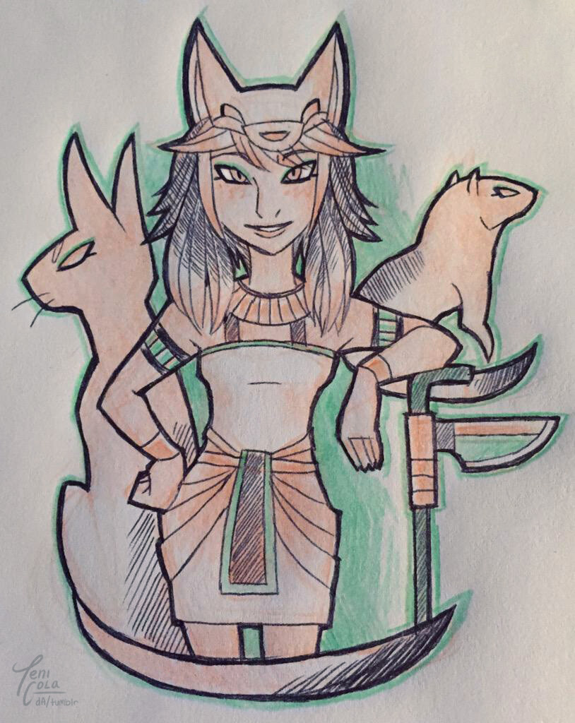 MAFDET -- The Goddess of justice and protector against dangerous and venomous animals.