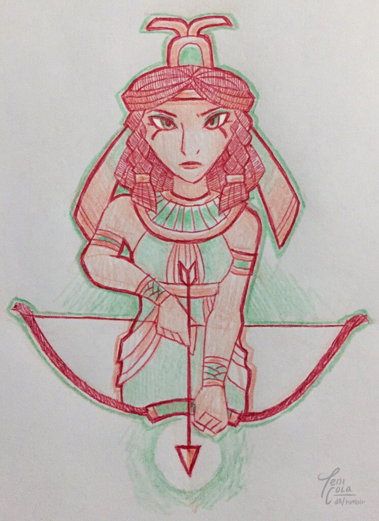 NEITH -- The Goddess of Hunting, warfare, and weaving.