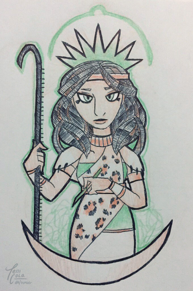 SESHAT -- The Goddess of Writing, wisdom, and history.