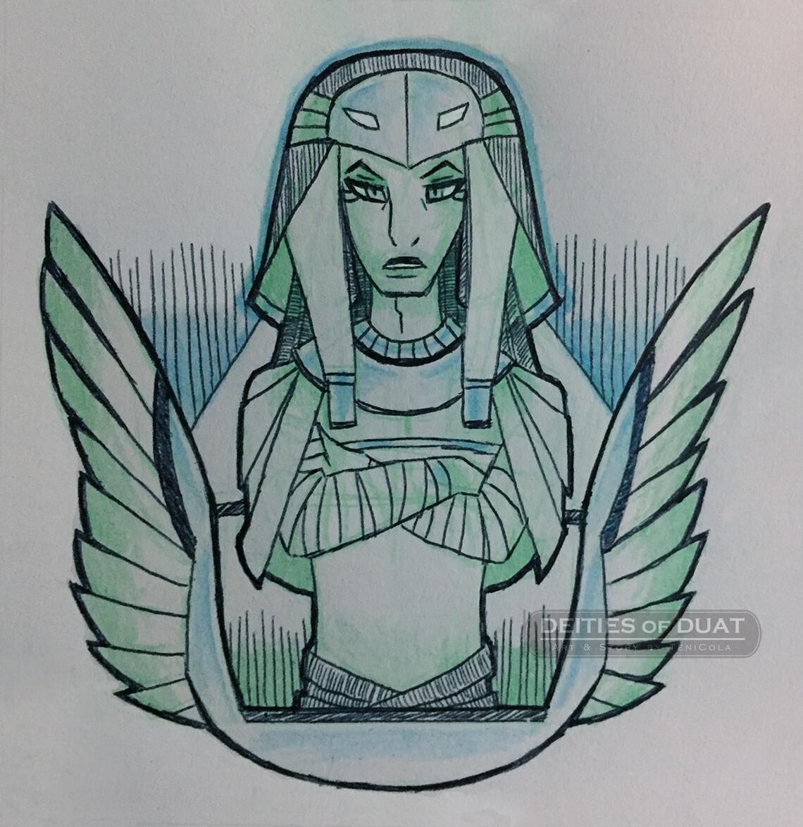 SOKAR -- The God of tombs, the underworld, and rejuvenation.