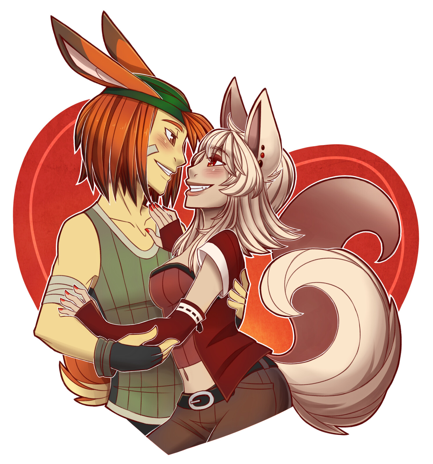 Ricki (MoonRabbit) and Yoko (Kitsune)