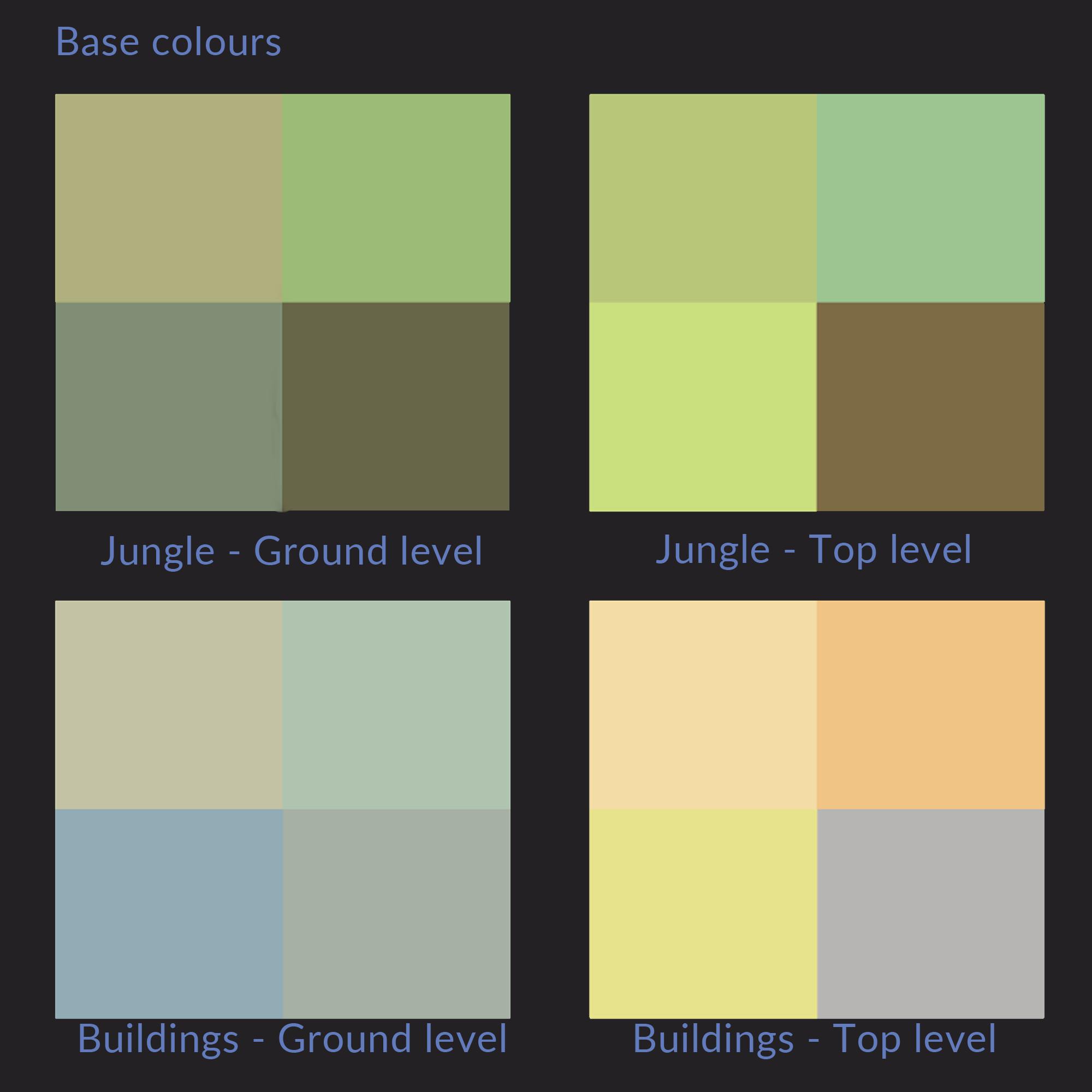 Bungle in the jungle base colour palettes - Brian