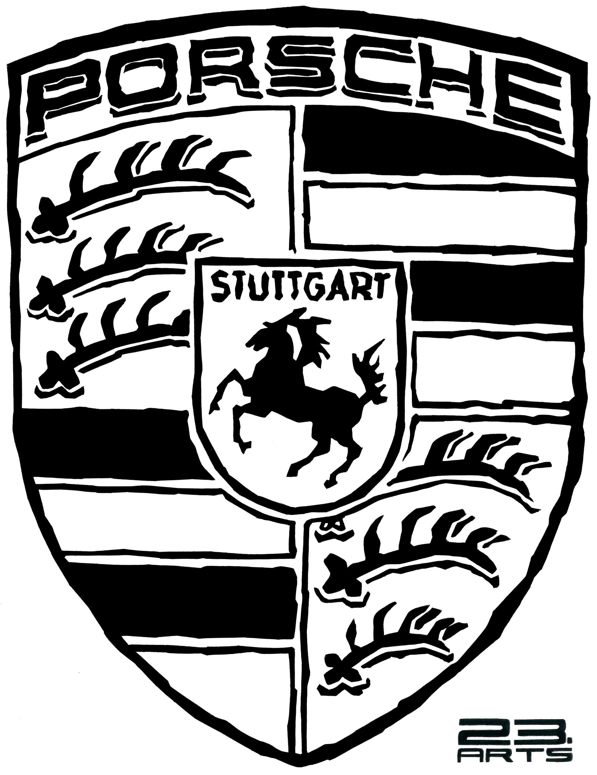 Artstation Porsche Logo Vladislav 23 Arts Shapovalenko