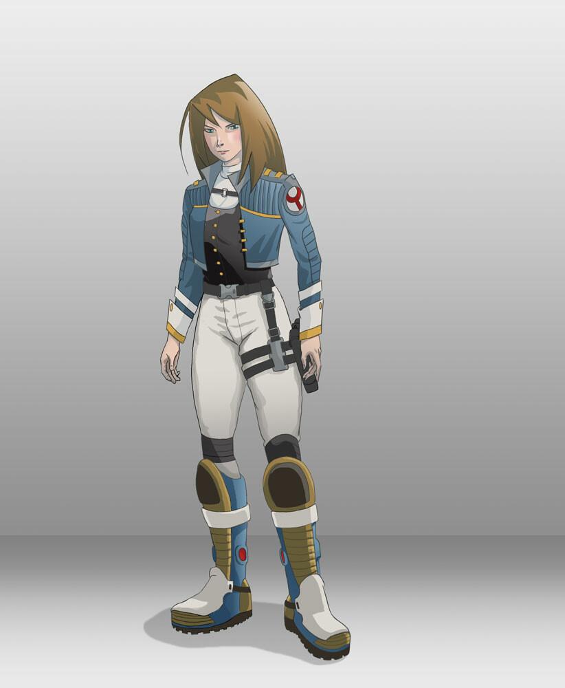 An anime style space captain.