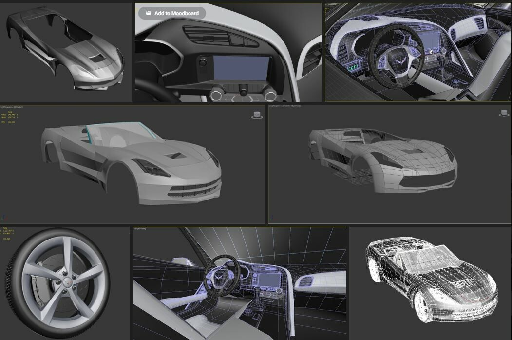 THIS IS MY WIP MODELING OF CORVETTE STINGRAY CONVERTIBLE
