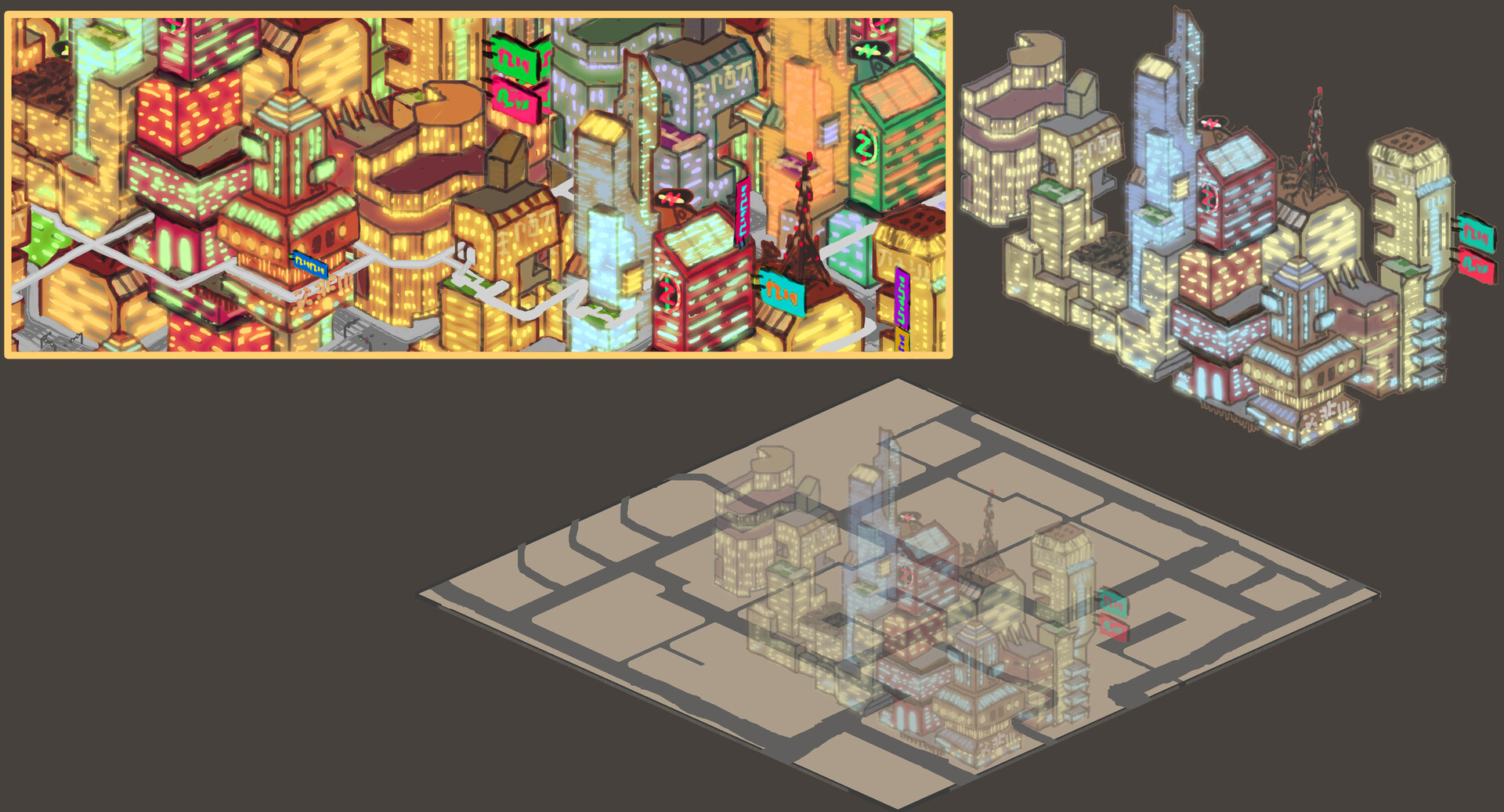 Alexander laheij scifi city design