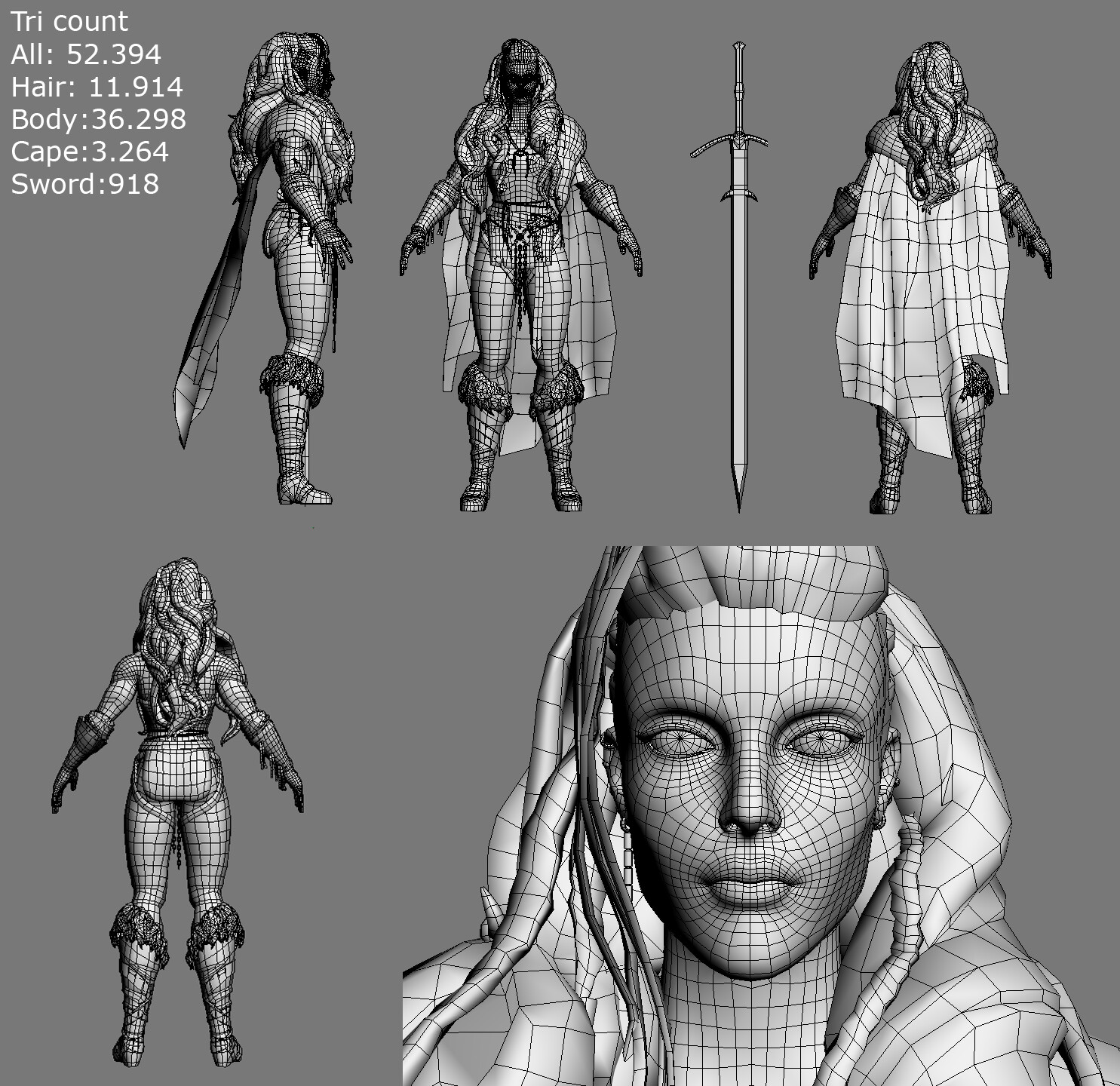 Wireframe and polycount