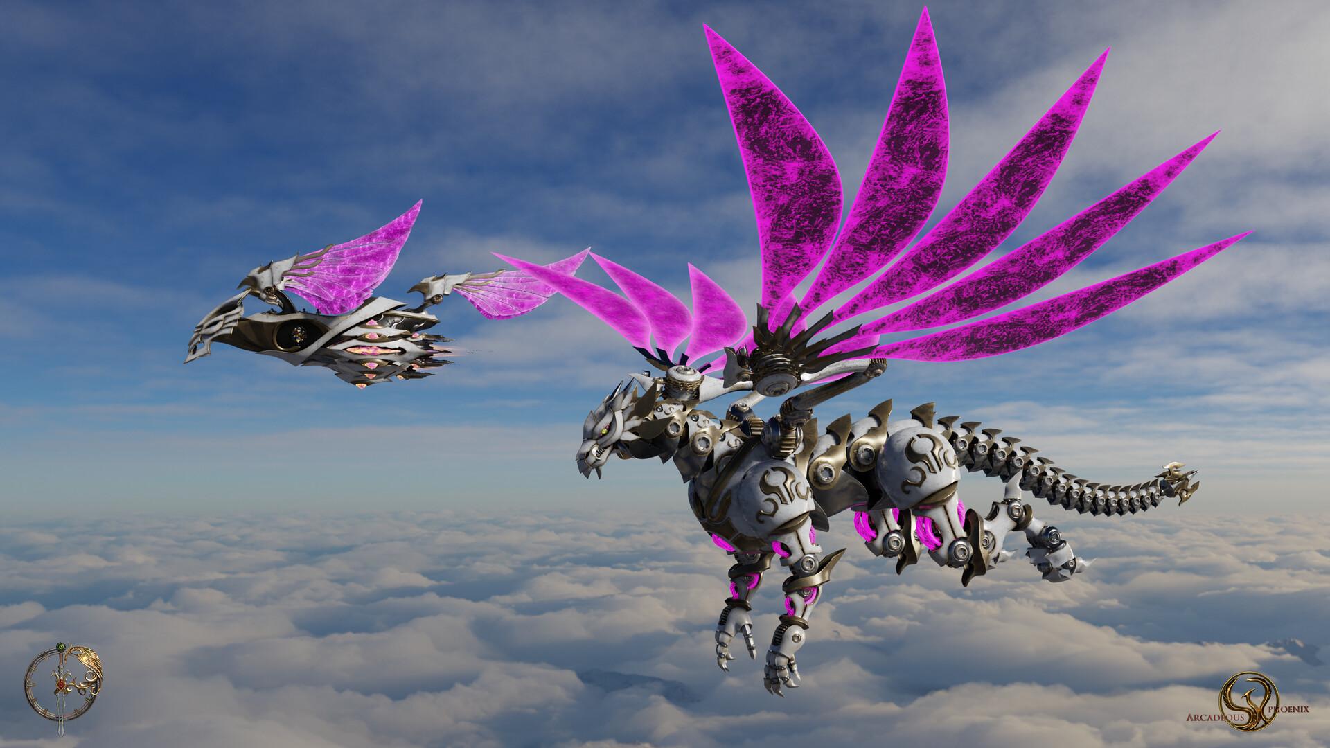Arcadeous phoenix cw dragon2 wallpaper