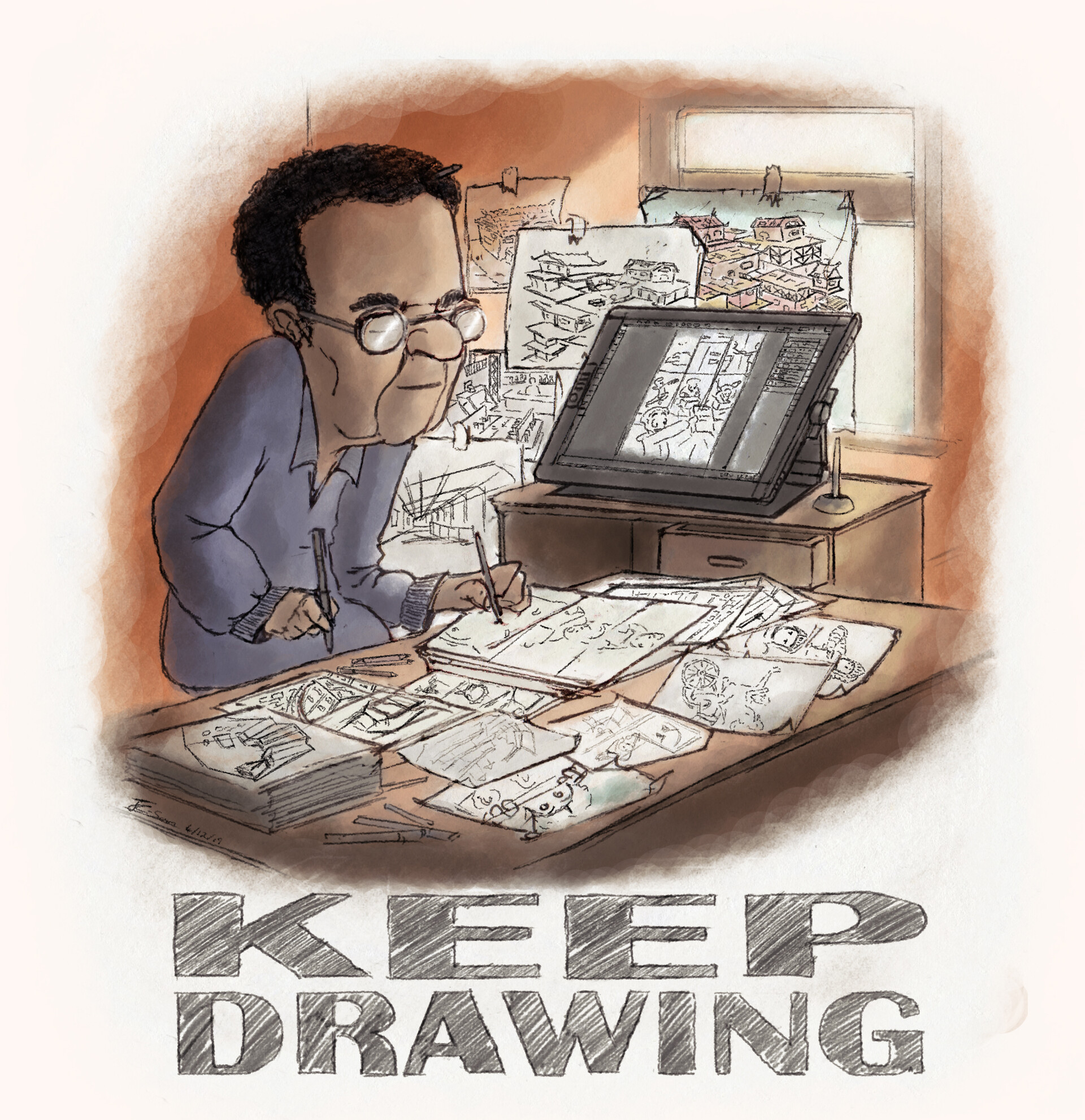 Joshua condison keep drawing