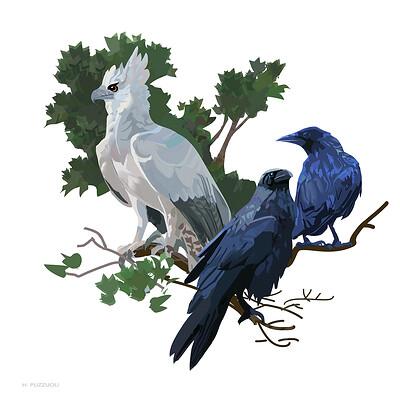 Hugo puzzuoli white crow small