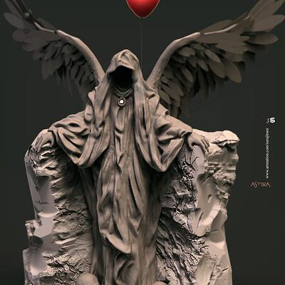 Surajit sen angel of death digital sculpture surajitsen dec2019a
