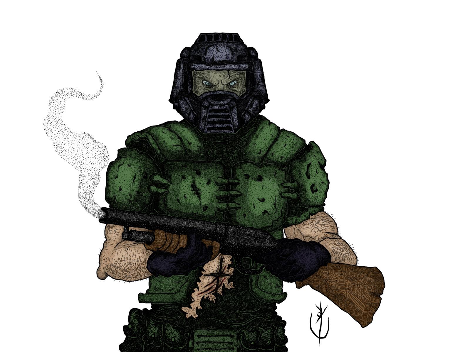 Doomguy ou Slayer colorido