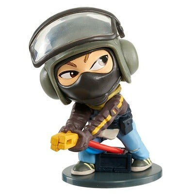 George crudo tom clancys rainbow 6 bandit chibi figure
