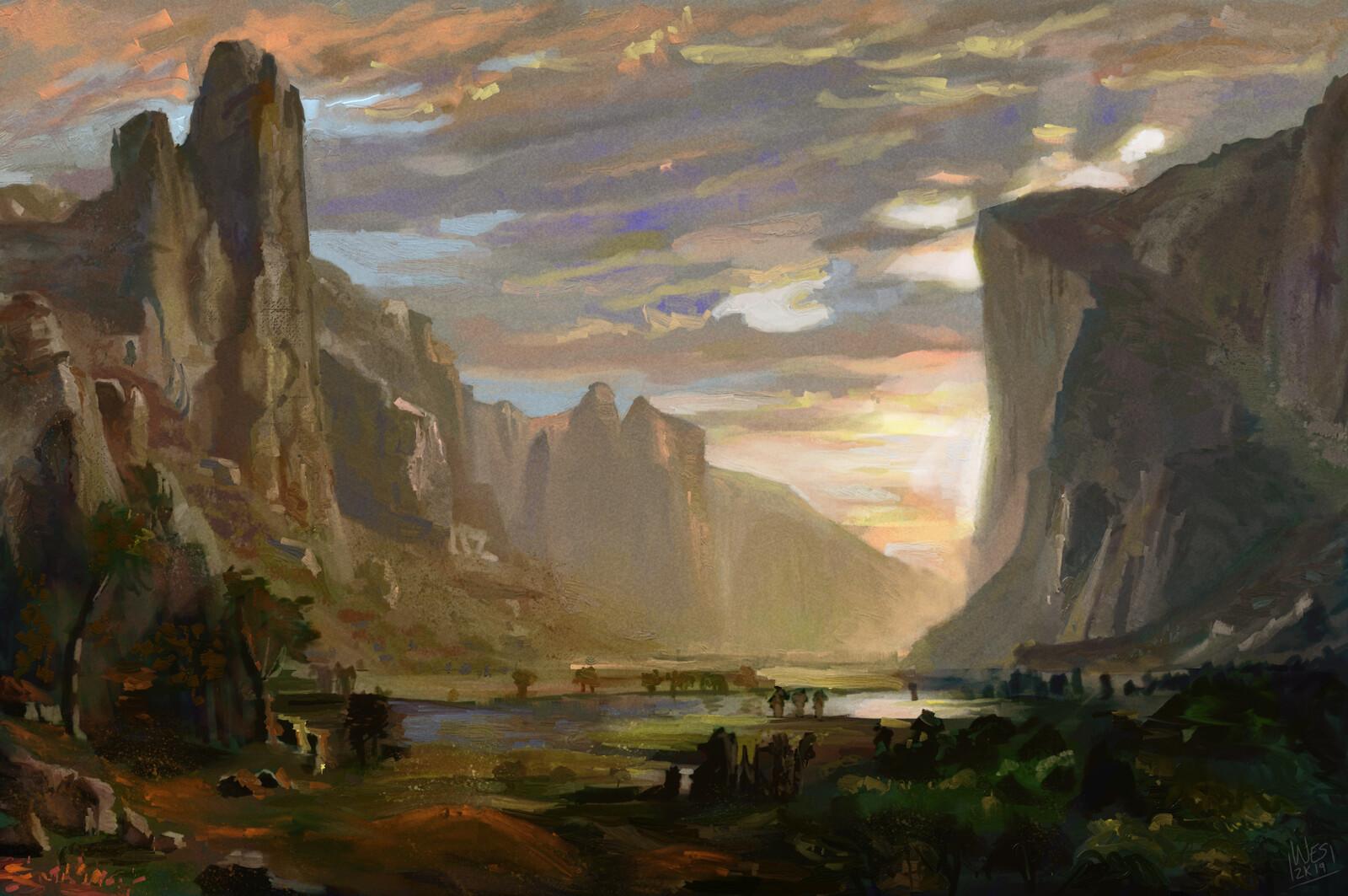 Albert Bierstadt Master Study