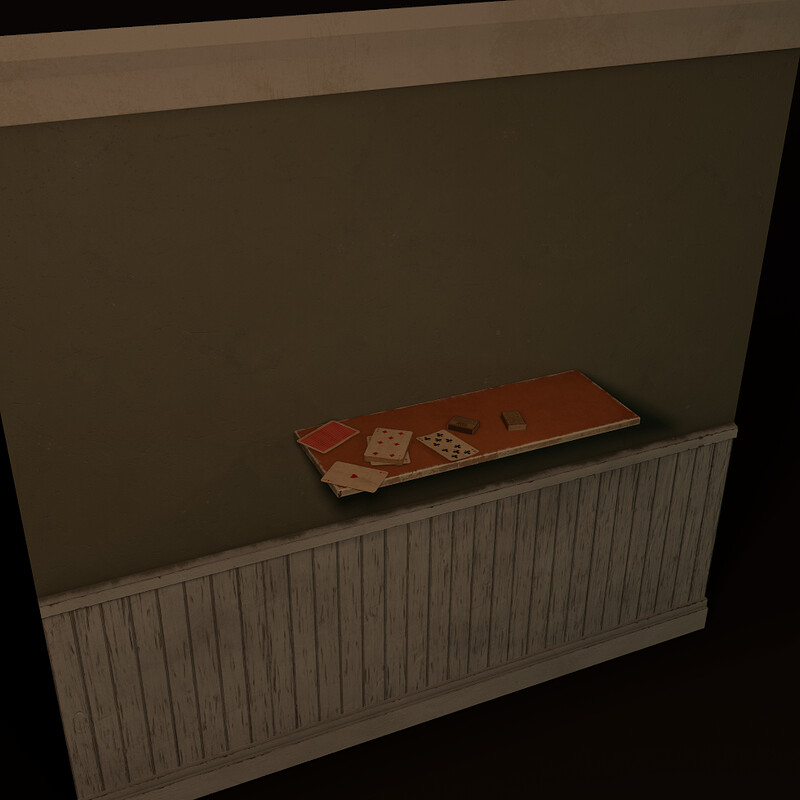 Modular Walls &  Small Props (Part of Horror Living Room Asset Pack - WIP)