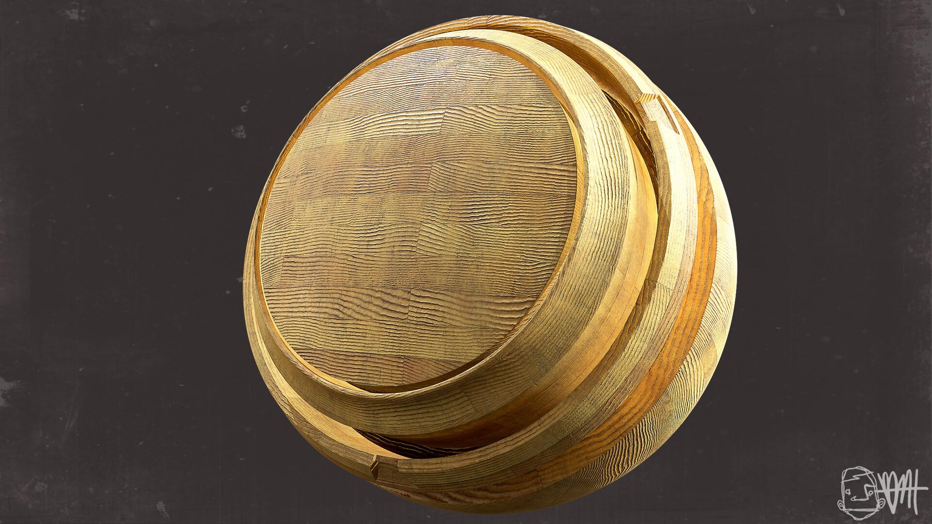 Brett marshall tucker subway wood ball 3