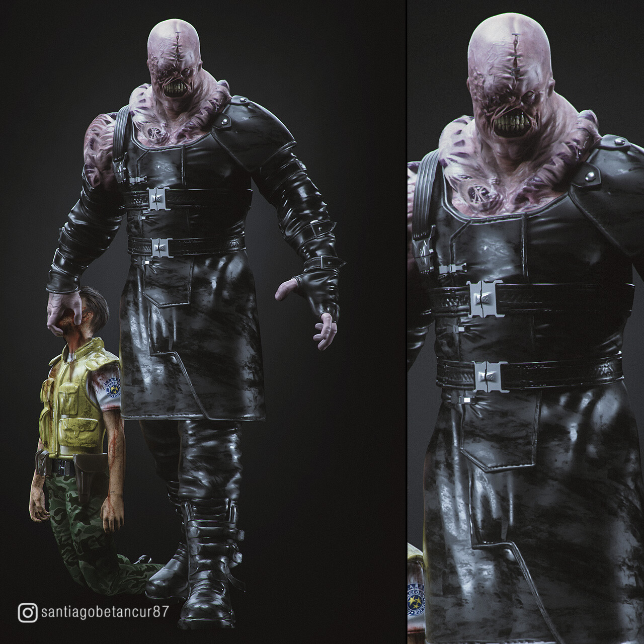 resident evil 3 remake nemesis concept art