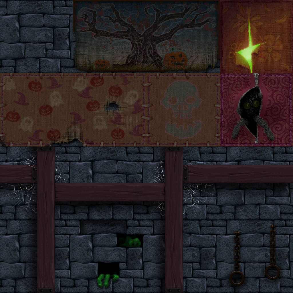 Halloween Background Tileset