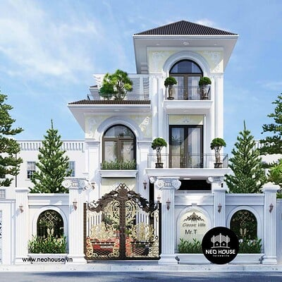 Neohouse architecture biet thu tan co dien 3 tang 1