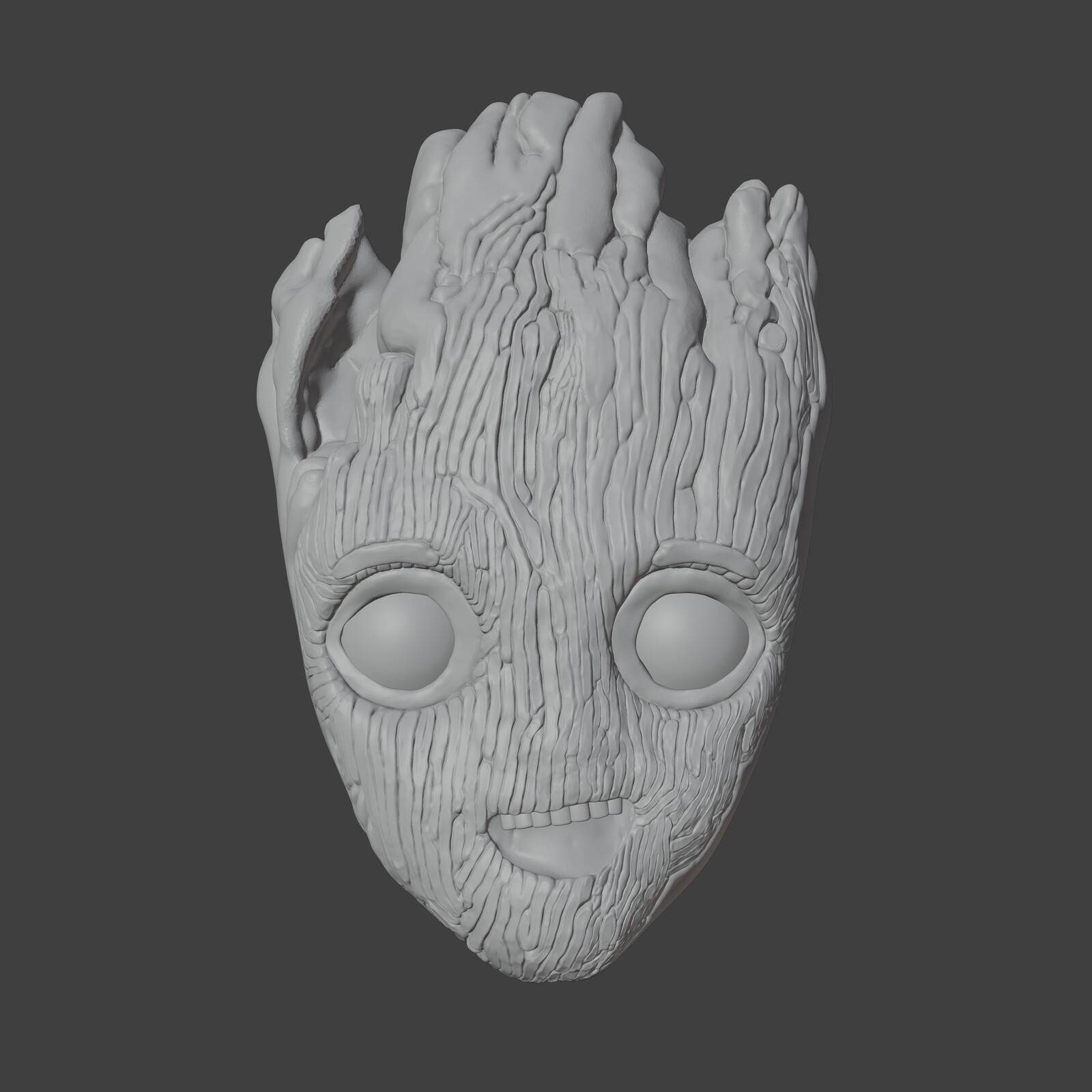 Baby Groot sculpt solid view