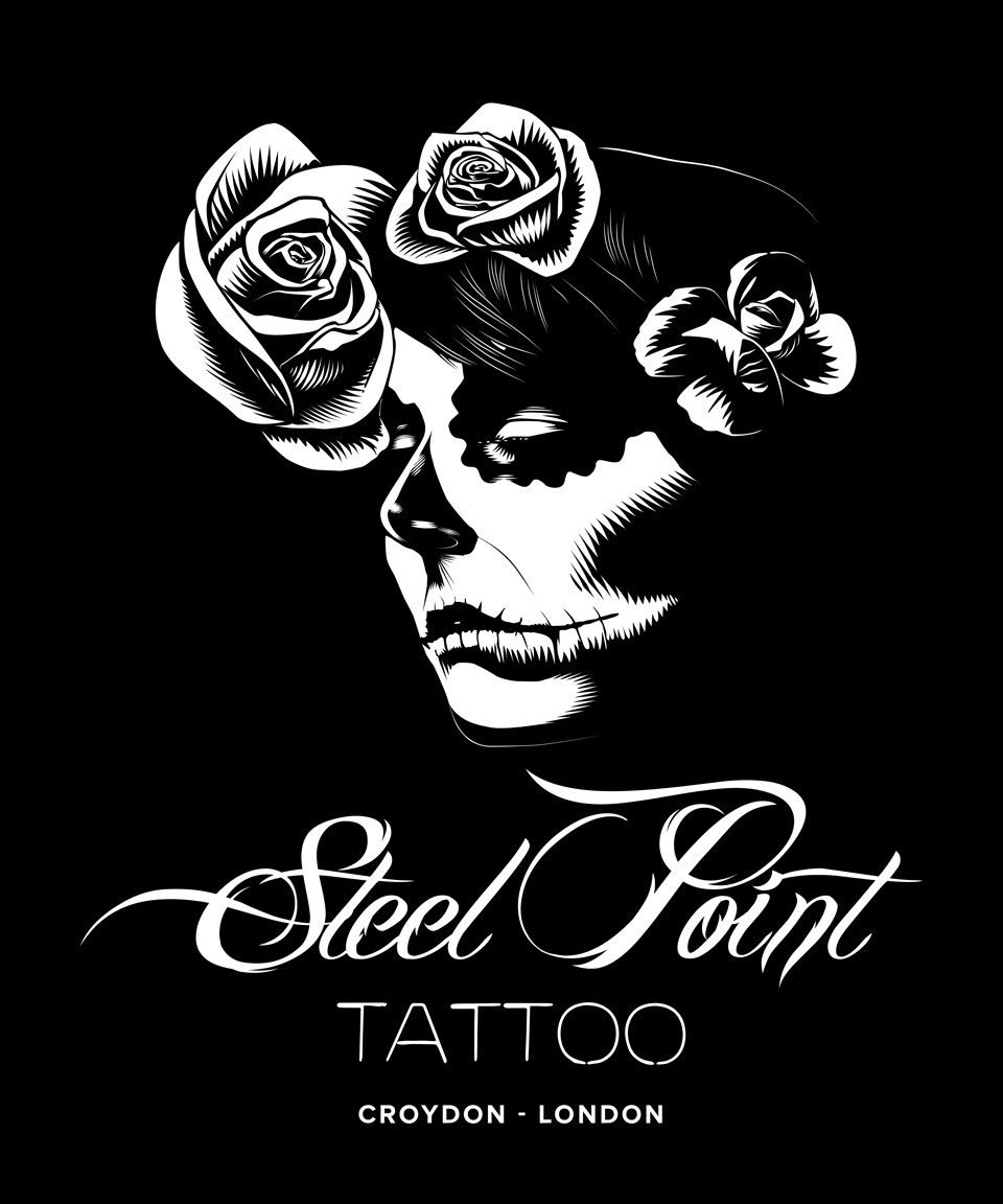 2018 - Steel Point Tattoo Studio, T Shirt Design