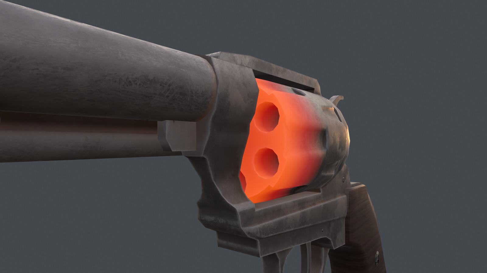 Render Cylinder Front Close-up