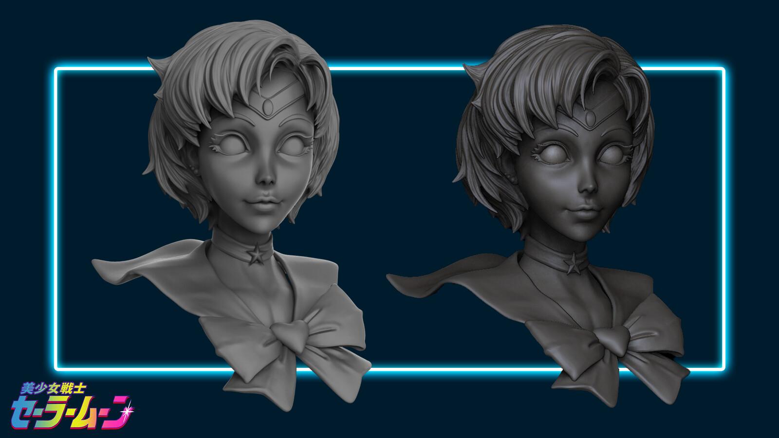 Keyshot render (left) Zbrush (Left)