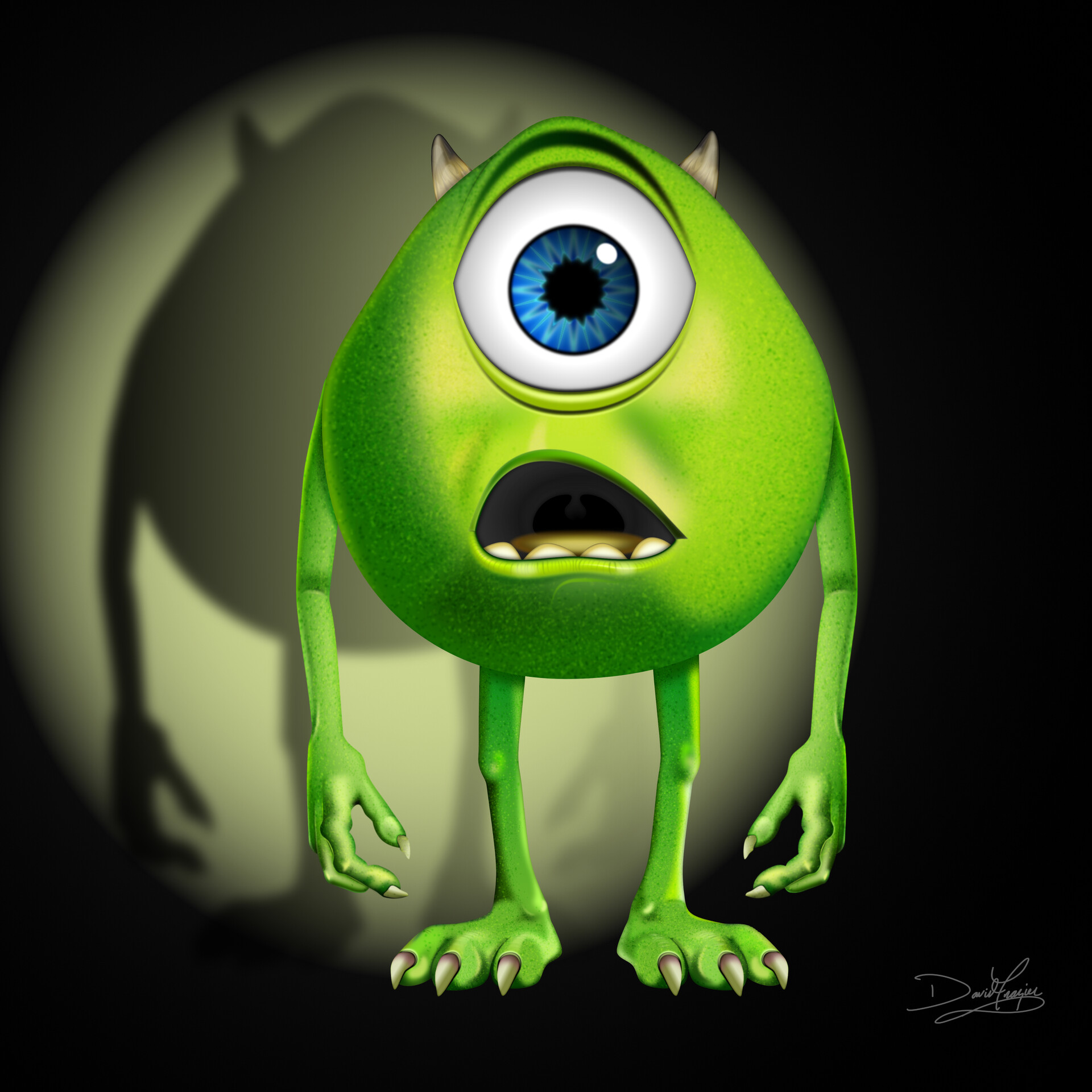 Mike Wazowski. Affinity Designer. All vector