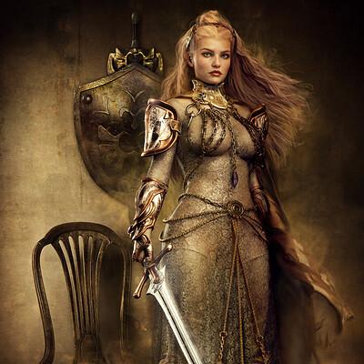 Ravven dhu gold queen ravven