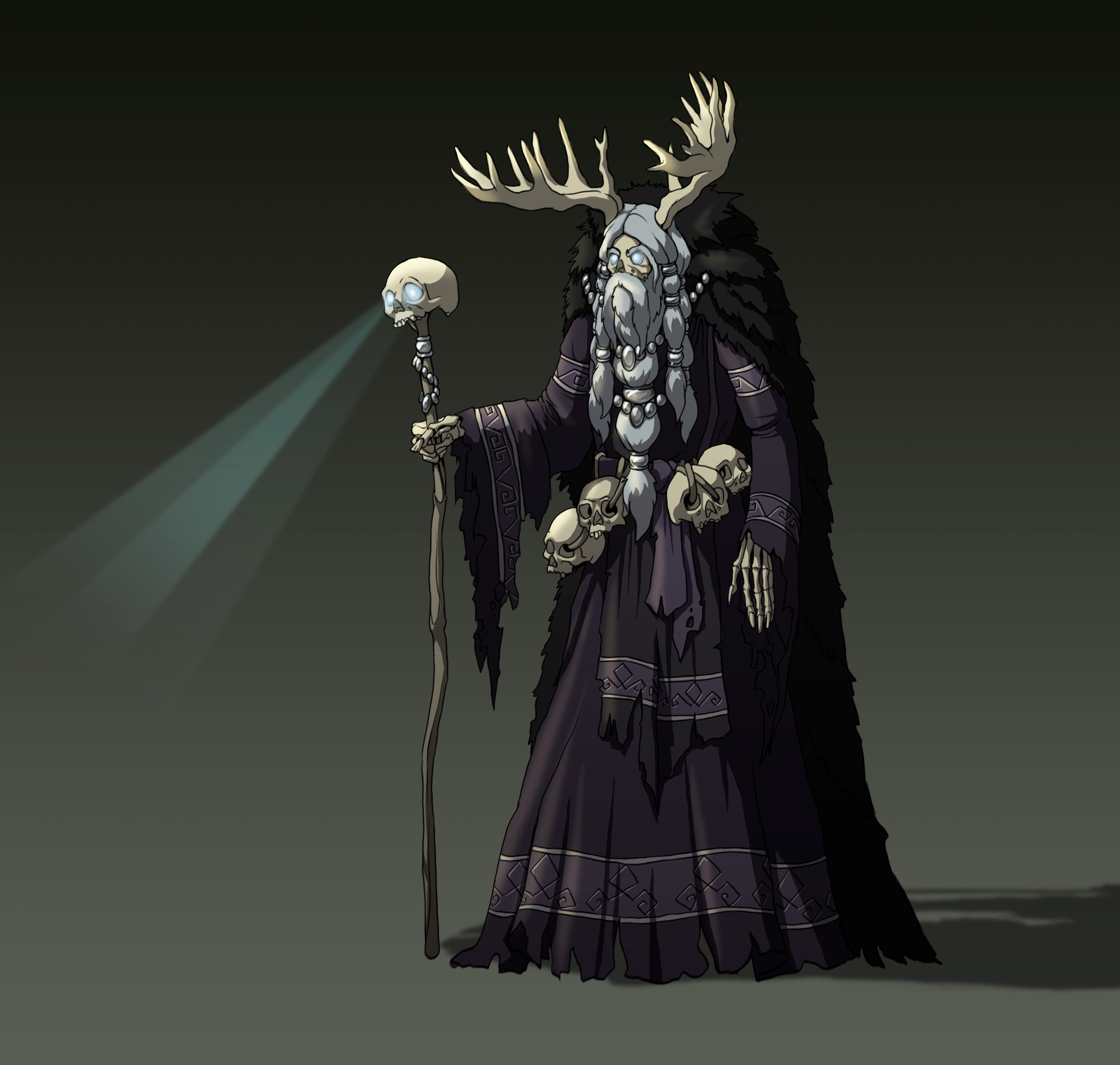 Karachun, the spirit of frost and dead by cold.